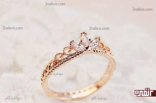 حلقه نامزدی ظریف با نگین زیبا