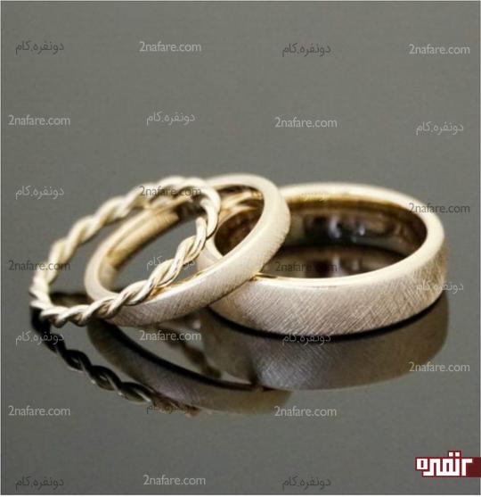 حلقه و انگشتر نامزدی ظریف و زیبا
