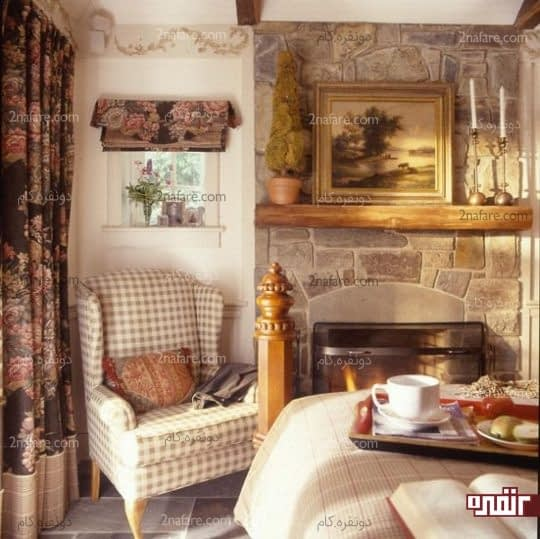 خانه ای به سبک انگلیسی با شومینه ای زیبا و دلنشین