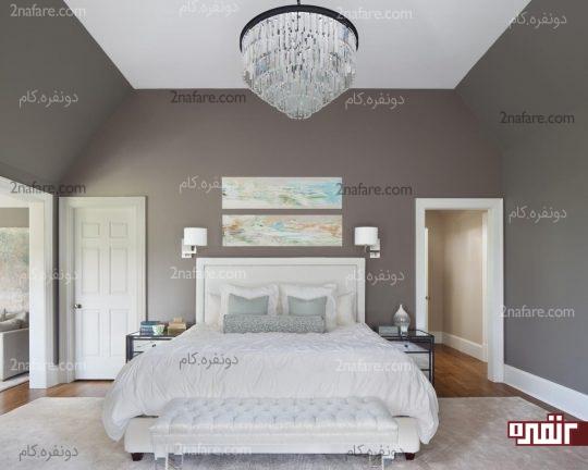 خاکستری پرطرفدار برای اتاق خواب های مدرن