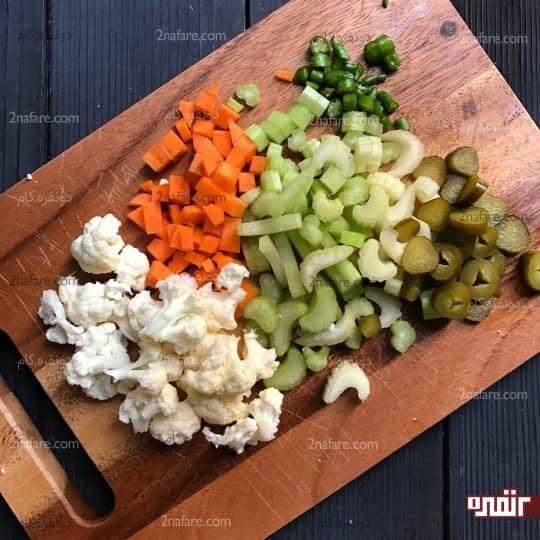 خورد کردن سبزیجات