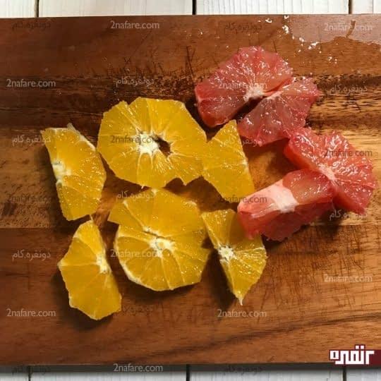 خورد کردن پرتقال و گریپ فروت