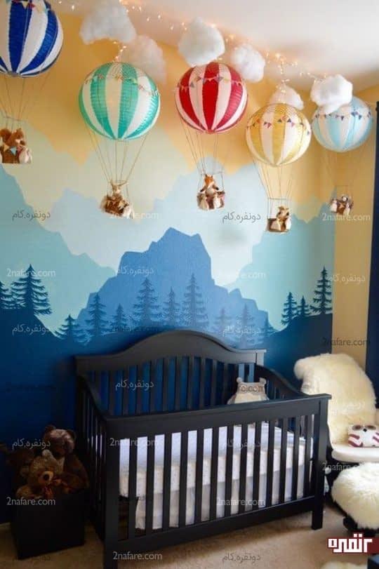 دکور مدرن و جذاب اتاق خواب کودک