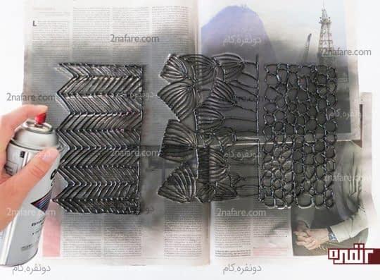 رنگ آمیزی روکش ساخته شده با چسب حرارتی