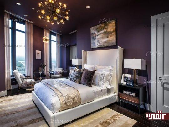 رنگ های تیره در اتاق خواب های بزرگ