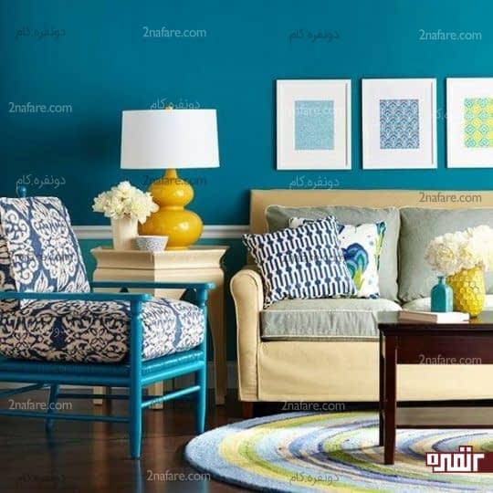 رنگ های شاد، زیبا و آرامش بخش در دکوراسیون داخلی