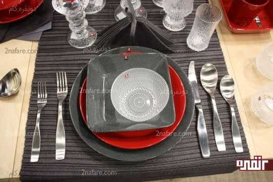 رنگ های گرم و خنثی در ظروف غذاخوری