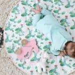 آموزش دوخت زیرانداز نوزادی گرد مرحله به مرحله