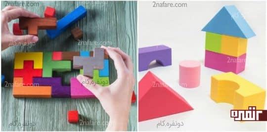 ساختن شکلها به کمک پازل های چوبی