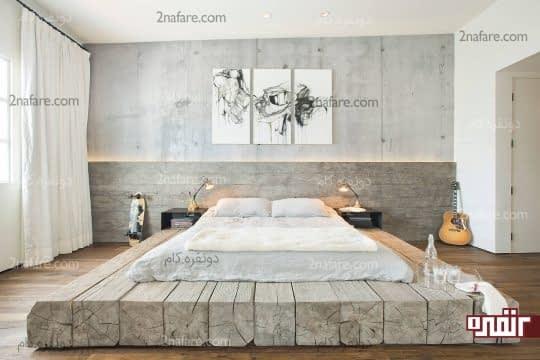 سبکی خاص و مدرن برای اتاق خواب با رنگ خاکستری