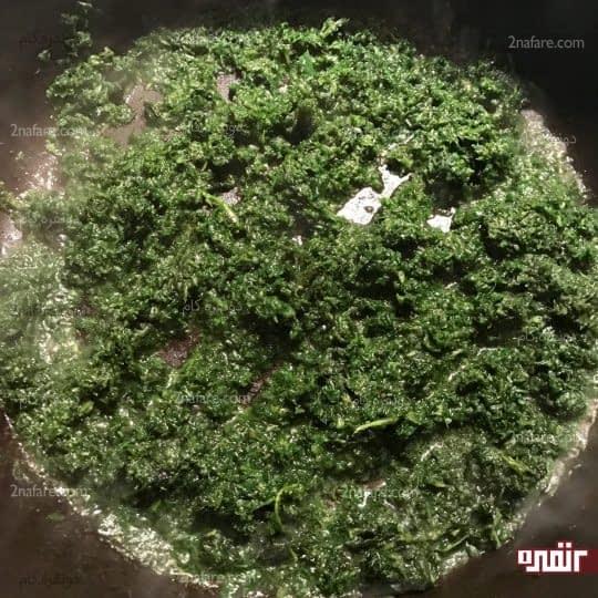 سرخ کردن سبزی