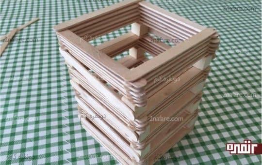 طبقات چراغ چوبی