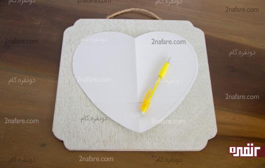 طراحی الگوی قلب روی تخته