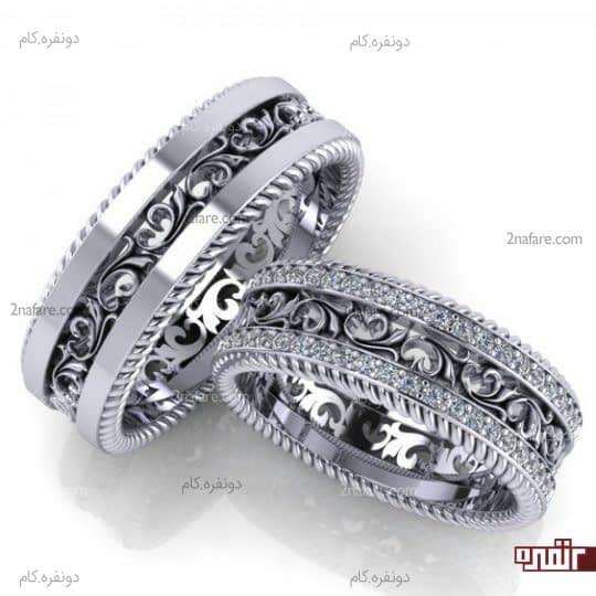 طراحی جذاب و خاص حلقه ازدواج و نامزدی
