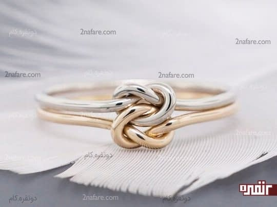 طراحی زیبای حلقه نامزدی با طلا ی زرد و سفید