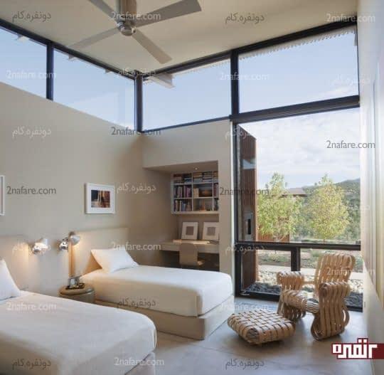فضایی برای مطالعه و استراحت با مبلمان خاص و زیبا