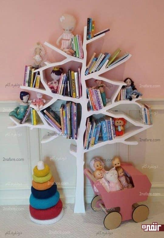 قفسه کتاب درختی برای اتاق کودک