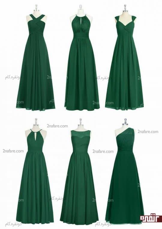 لباس ساقدوش سبز یشمی