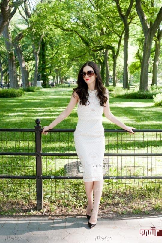 لباس کوتاه تا رو یا زیر زانو برای خانم های قد کوتاه مناسبه