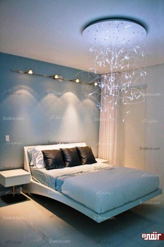 لوستر دکوراتیو و خاص در اتاق خواب
