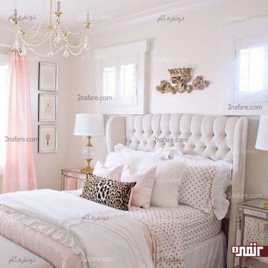 مجموعه ای از بافت های لطیف در اتاق خواب