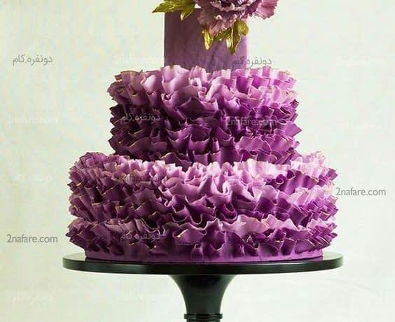 مدل کیک عروسی بنفش