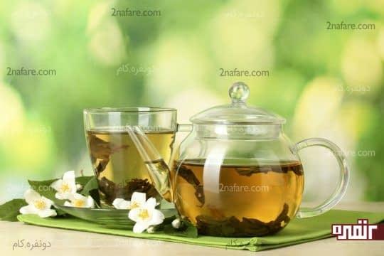 مصرف روزانه دو الی سه فنجان چای سبز برای لاغری و کاهش وزن