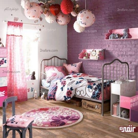 مطابقت رنگ دیوار و دکوراسیون اتاق خواب