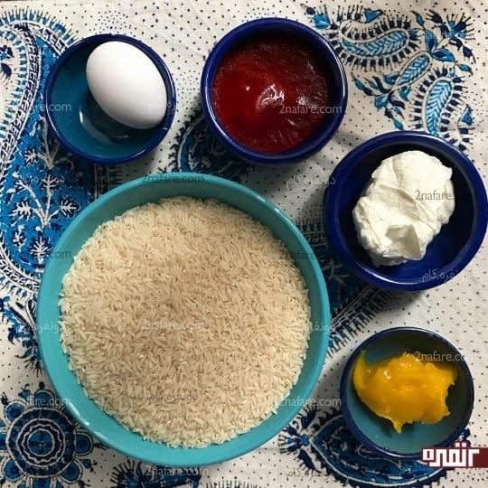مواد لازم برای تهیه ته دیگ ته چین