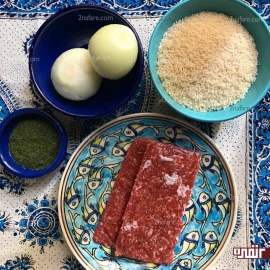 مواد لازم برای تهیه شوید پلو با گوشت چرخی