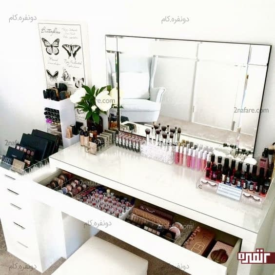 Best Home Décor Ideas From Kovi An Anthology: ترفندهایی برای داشتن میز آرایش شیک و ساده • دونفره