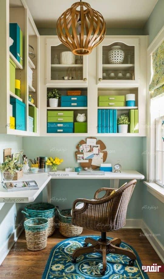میز ال مانند برای کنج و قفسه بندی های روی دیوار برای نگهداری از لوازم