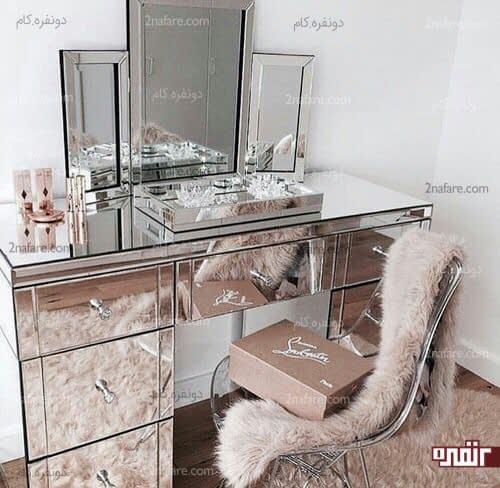 میز و آینه شیک و مدرن آرایش