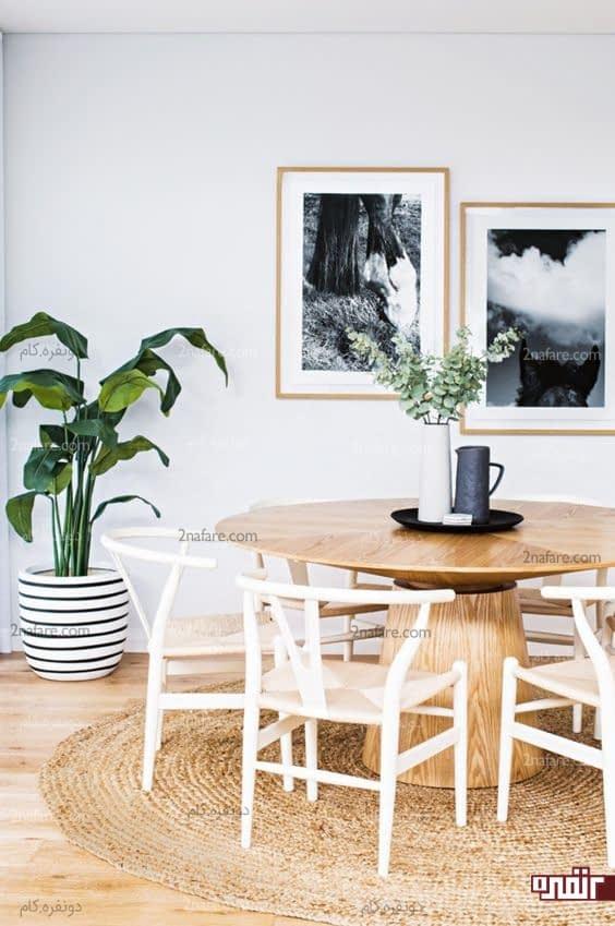 چطور از میز گرد در دکوراسیون خونه استفاده کنیم؟