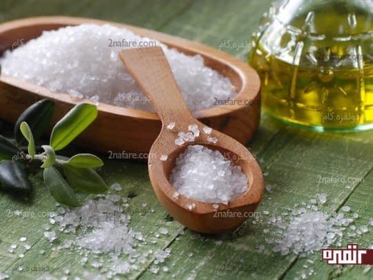 نمک دریایی مفید برای ناخن های آسیب دیده
