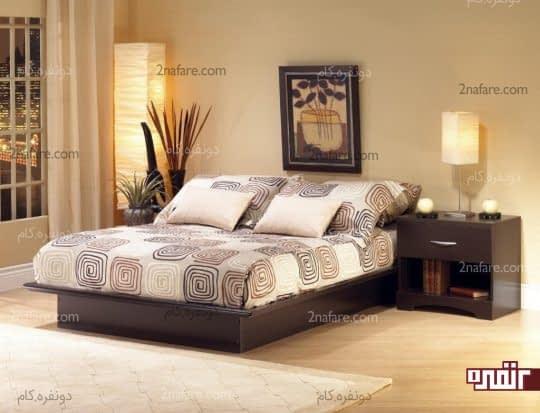 نورپردازی مصنوعی در اتاق خواب مدرن