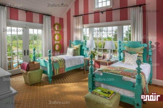 نکات مربوط به دکوراسیون اتاق خواب دو تخته برای دختران