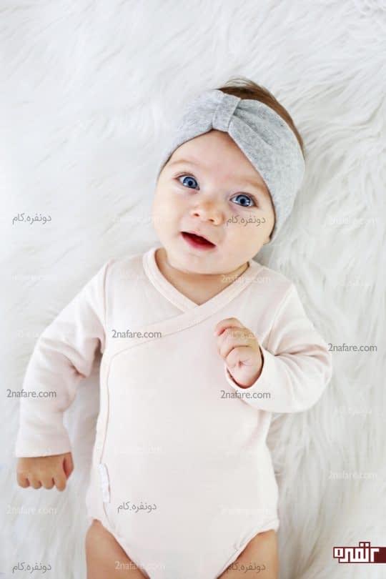 هدبند نوزادی پارچه ای زیبا و ساده
