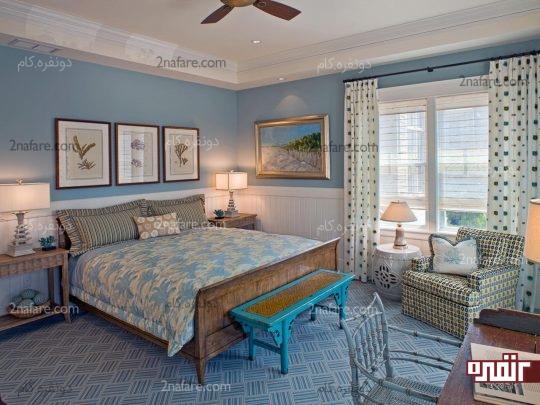 هماهنگی بین رنگ دیوارها و اثاثیه اتاق خواب