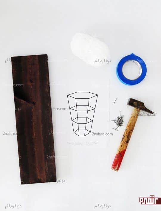 وسایل لازم برای ساخت تابلوی گلدان سه بعدی