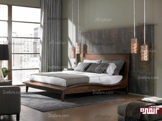 پنجره های قدی برای تامین نور طبیعی اتاق خواب