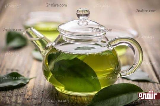 چای سبز دم شده مؤثر در براق شدن مو