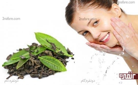 چای سبز و درمان آفتاب سوختگی