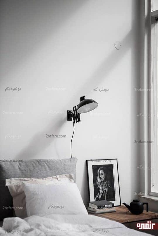 چراغ دیواری با قابلیت تنظیم ارتفاع و گردش