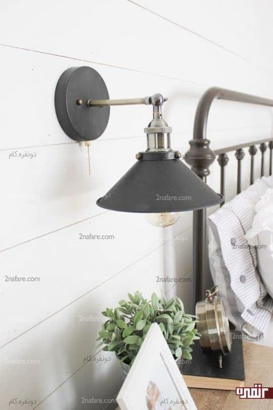 چراغ دیواری پایه دار با طراحی زیبا و چشم نواز