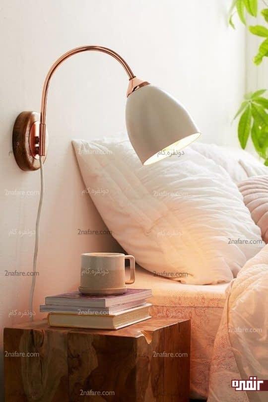 چراغ دیواری پایه دار با طرحی زیبا و جالب
