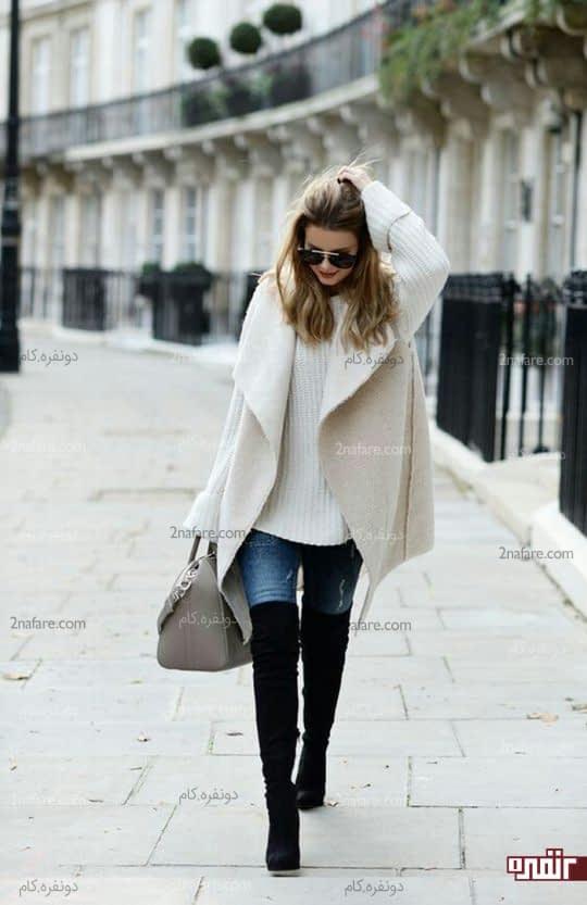 ژاکت پشمی بدون آستین