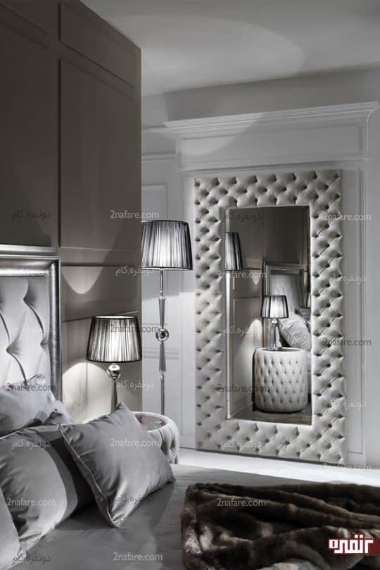 کاربرد آینه در جذاب تر شدن فضای اتاق خواب