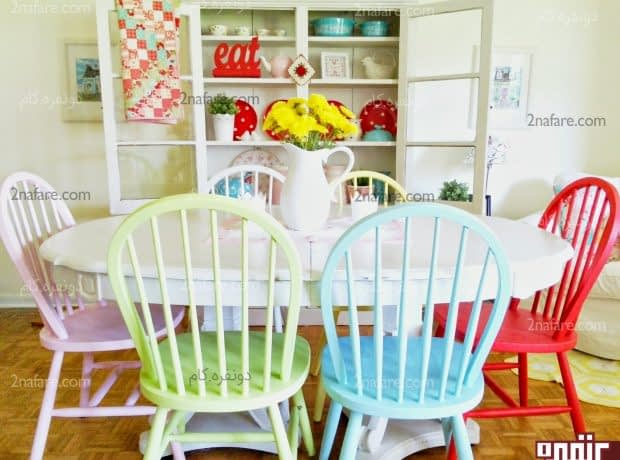 کاربرد رنگ ها در دکوراسیون اتاق غذاخوری