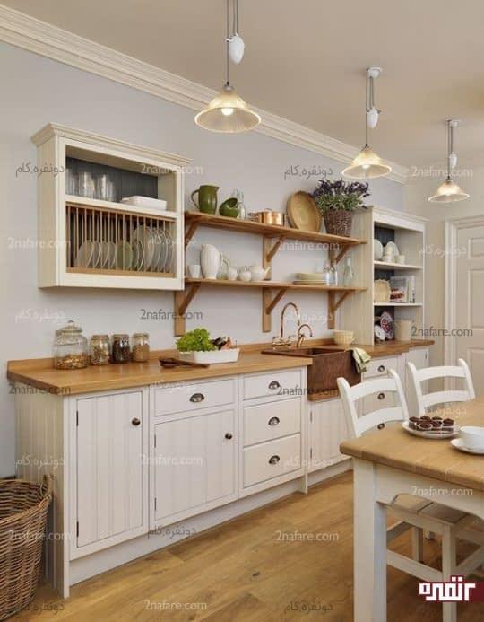 کاربرد شلف های دیواری در آشپزخانه های کوچک